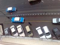Das Taxi aus GTA2 Perspektive.